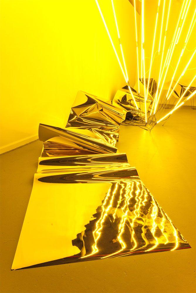 Keith Lemley neon art installation.