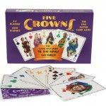 Five Crowns- A unique set of playing cards with a fifth suit is a fun twist on several well-known card games
