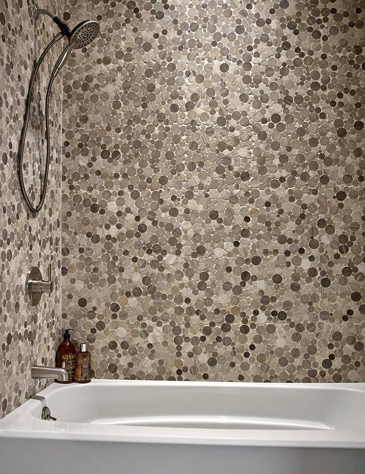 serenity stone pebble polished backsplash ideenbacksplash - Ubahn Fliese Backsplash Ideen