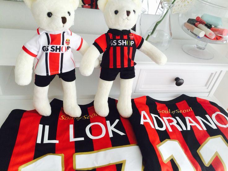FC Seoul Yun Il-Lok and Adriano jerseys.  ⚫️