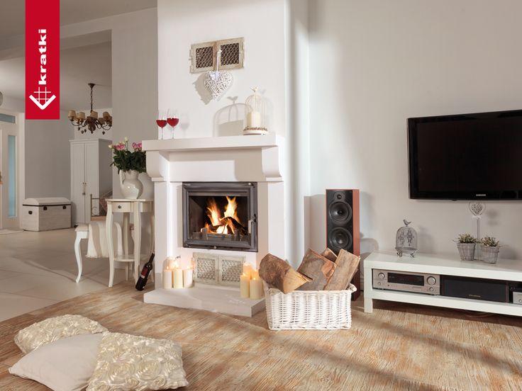 Fireplace ZUZIA 16 kW #kratkipl #kratki #fireplace #insert #interior #livingroom