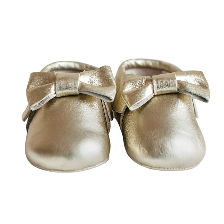 Shoes- Charlotte Gold - Shoes - Baby Belle