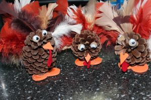 Pinecone turkeys 2