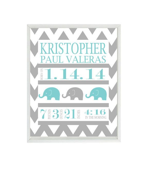 Birth Stat Wall Art