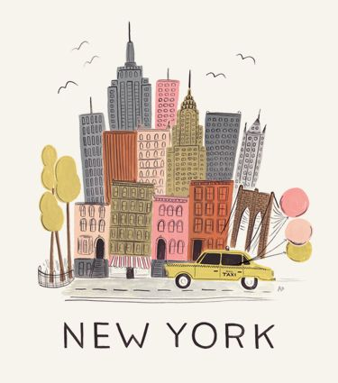 New York City Print - from Rifle Paper Co.  I would like copies of these prints from some of the big cities that I've lived in...