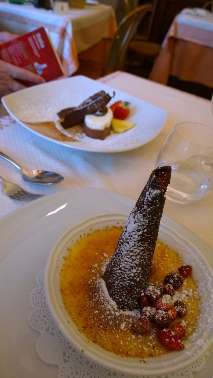 Creme Brulé - the first ever I could not finish even though it was delicious because it was huge! La Basilica, Sorrento, Italy