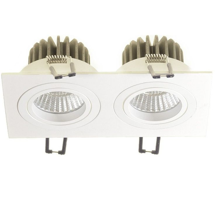 Utah Hl Downlight Duo Med 25 Tilt 45 Dimbar 2x9w Led Lamper Utah Farger