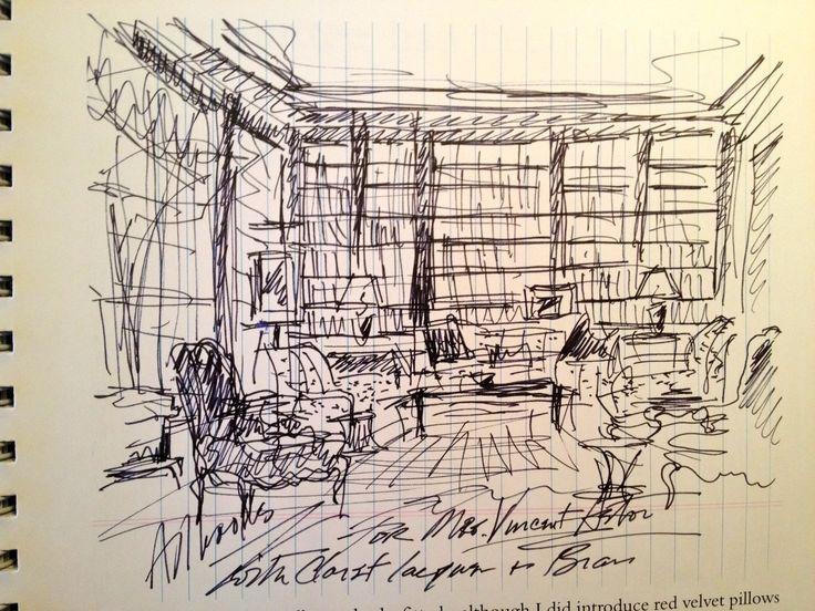 Albert Hadley sketch
