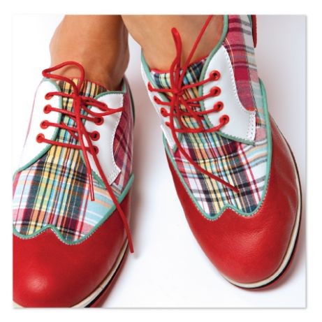 These red madras women's wingtip golf shoes are the ultimate style statement & they're not just for golf any more. Super comfortable. Super playful . Available at equiptforplay.com