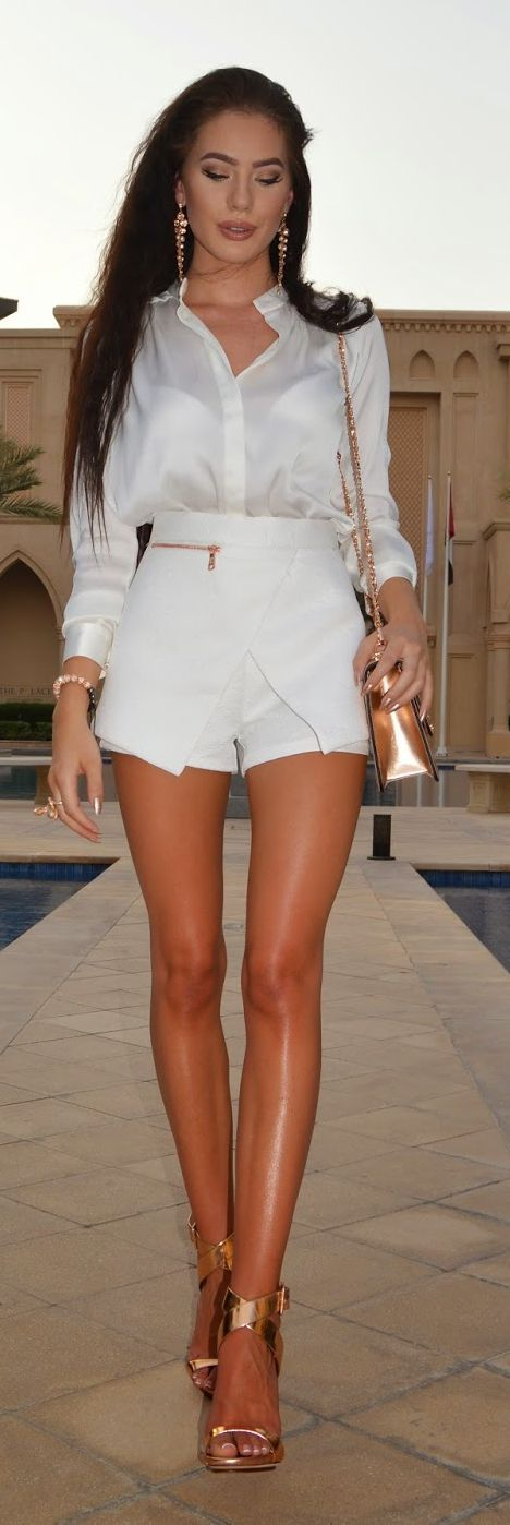 Rose Gold Sandals Chic Style by Laura Badura Fashion
