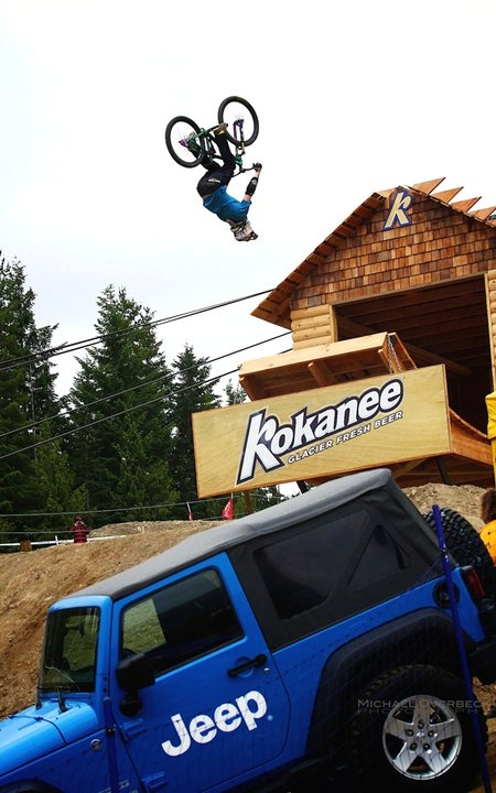 "This is what it's about at Crankworx! ""Like us on Facebook: www.facebook.com/Jeep Canada and follow us on Twitter: www.twitter.com/jeepcanada"