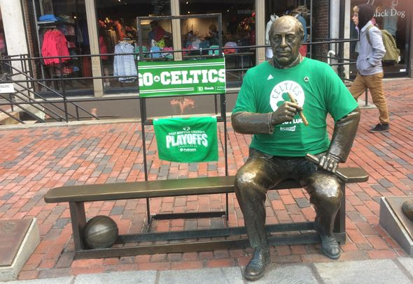 Red Auerbach in Celtics green