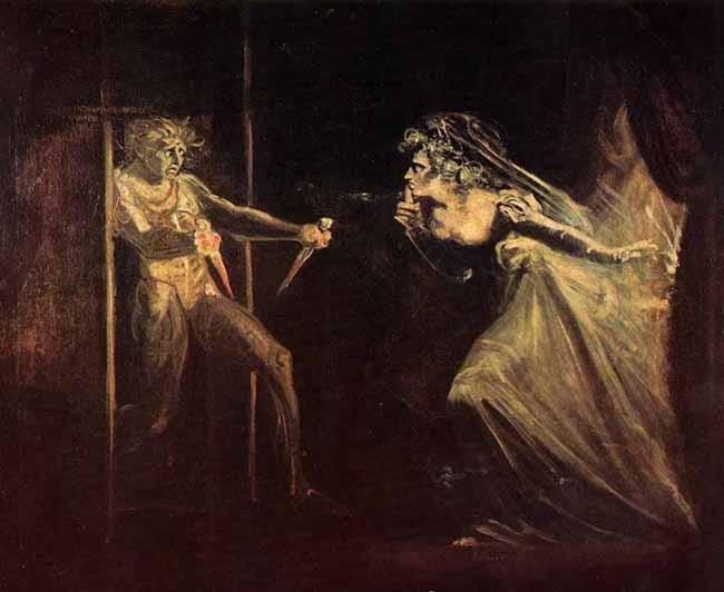 Lady Macbeth takes the daggers opposite - Johann Heinrich Füssli
