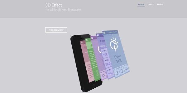 3D Effect Mobile Showcase