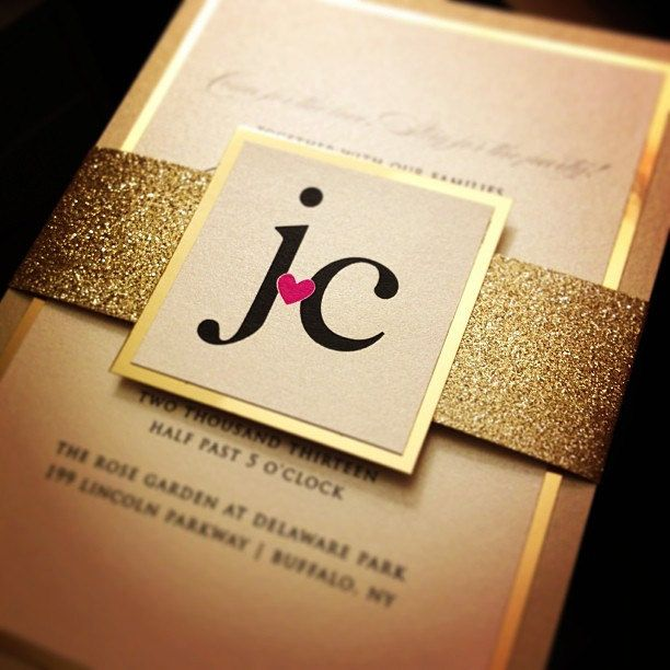 GOLD // Fancy Glitter Wedding Invitations - 25 QTY. $225.00, via Etsy....or DIY something like this for Christmas (yeah, right, in my dreams!  haha)
