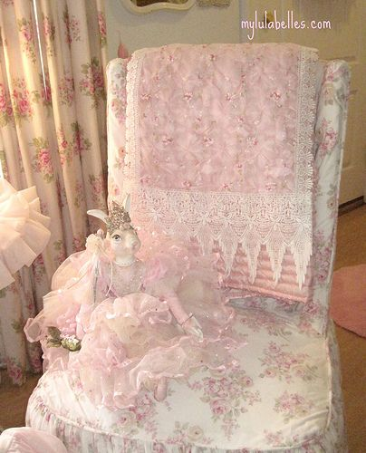 Pink Lace Runner; Pink RabbitChairs I, Soft Pastel