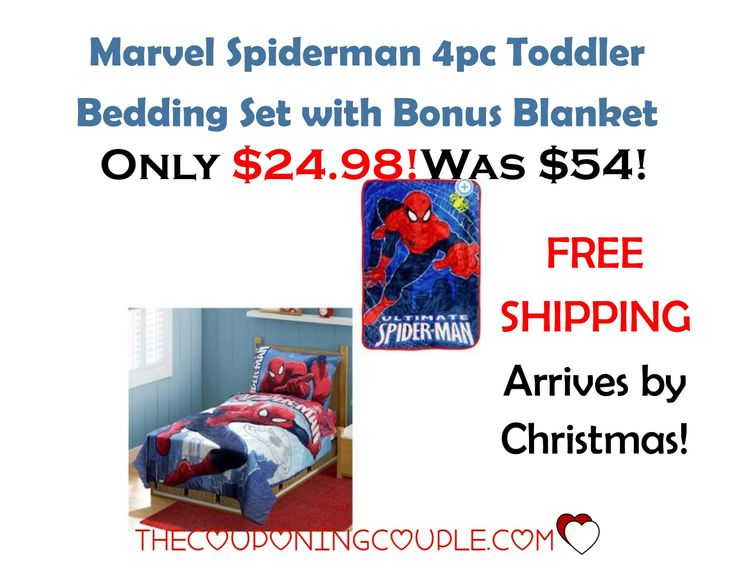 Great gift idea for a little guy! Get a Superman Bedding set with a bonus blanket for only $24.98 shipped! Arrives by Christmas too!  Click the link below to get all of the details ► http://www.thecouponingcouple.com/spiderman-bedding-set-with-bonus-blanket-only-24-98-was-54/ #Coupons #Couponing #CouponCommunity  Visit us at http://www.thecouponingcouple.com for more great posts!