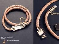 Bolt usb phone charger bracelet
