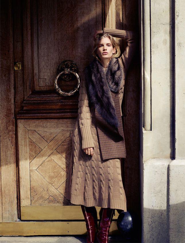 Осенний гардероб, приглушенные цвета и минимализм в одежде, макияже и прическе | Glamour