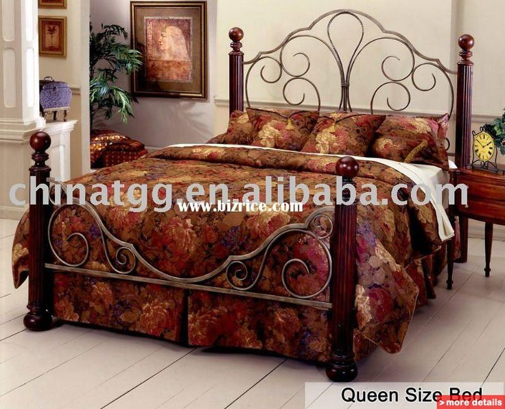 193 best beds images on pinterest - King Size Iron Bed Frame