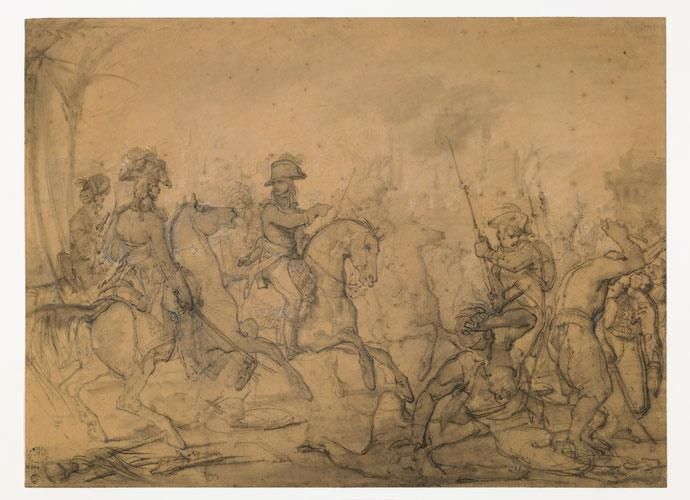 GERICAULT Théodore   Bonaparte sur le champ de bataille  de Mondovi