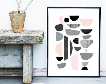 Items similar to Chat Modern - by Kerry Beary Mid Century Modern Giclee Print on Etsy
