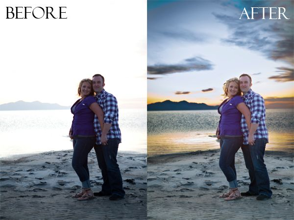 how to add, expose, capture and enhance skies in photoshop
