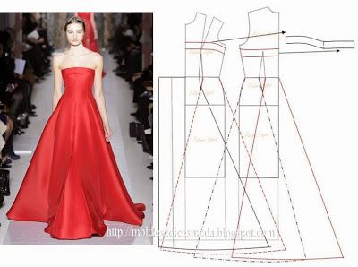 #Abendkleid #Schleppe Moldes Moda por Medida: VESTIDOS