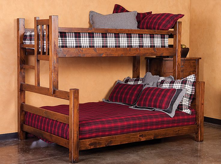 brighton bedroom collection brighton bunk bed twin over queen chestnut finish shown