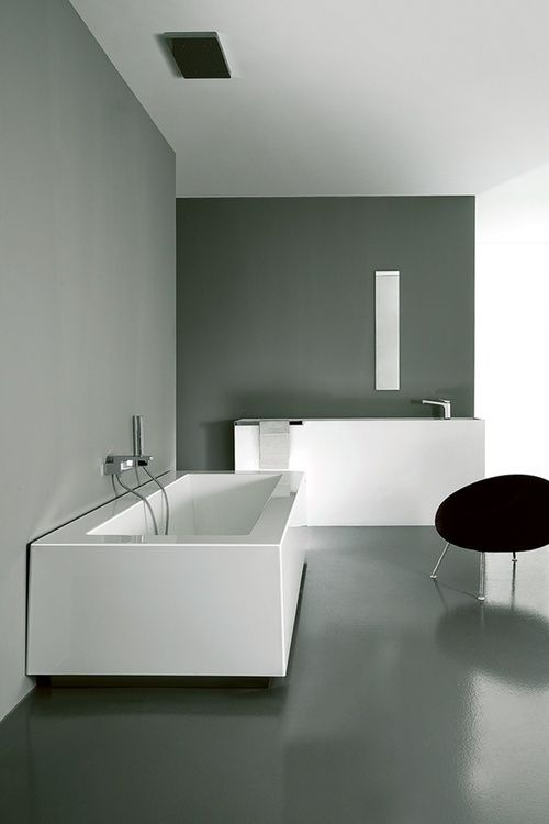 concrete floor in the bathroom minimalist bathroom designminimal - Minimal Bathroom Designs