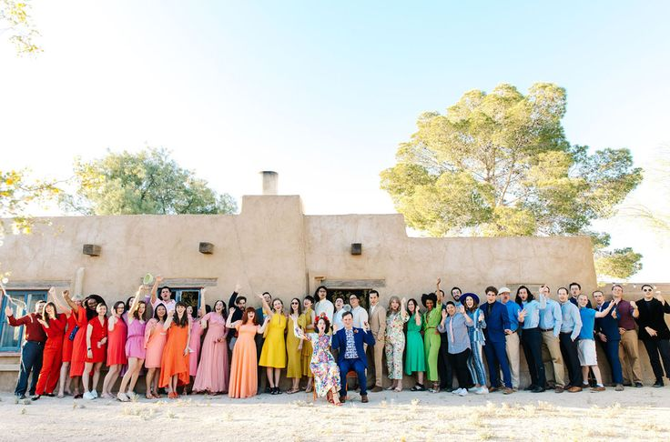 Vintage, eclectic, colorful, fiesta-inspired — each one of those words could describe Jaimee + Adam's wedding celebration in the desert of Twentynine Palms. We shared a bit about their wild reception this morning and now we're back with the second installment! Vintage shop owners Jaimee + Adam wanted their celebration/reception to feel like a giant...
