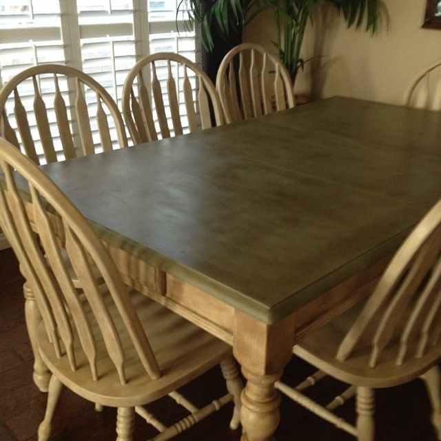 Refinished My Old Oak Dining Table And Chairs With Annie