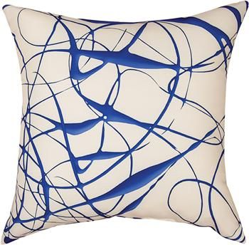 """SLSBAO 18"""" x 18"""" Shades of Blue All Over Pillow                                                        contemporary"""