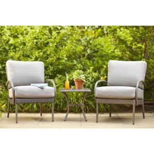 hampton bay posada patio lounge chair with gray cushion 2pack