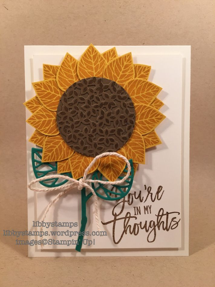 libbystamps, stampin up, Thoughtful Branches, Beautiful Branches, sunflower…