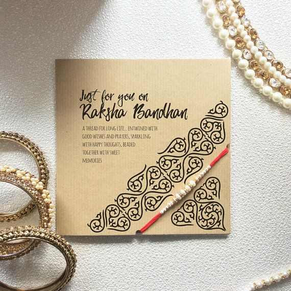 Raksha Bandhan Card With Rakhi Rakhi Greeting Card For My