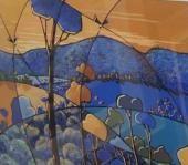 Artist: Doreen Shaw - Title: Blue Escaprment ( H 50 cm X W 70 cm)