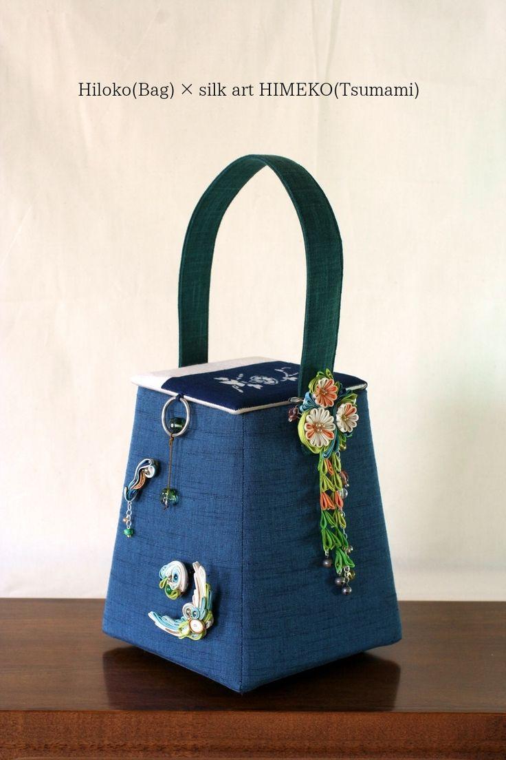 Japanese bag artists Hiloko & silk art HIMEKO(facebookpage https://ja-jp.facebook.com/himekosilkart ) the first collaboration work!!! This bag information →http://a-yarn.tea-nifty.com/product/2015/07/post-81fd.html
