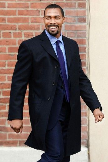 "Omari Hardwick on location for the Starz TV series ""Power"" in New York City."