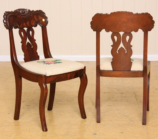 19th C Empire Dining Chairs
