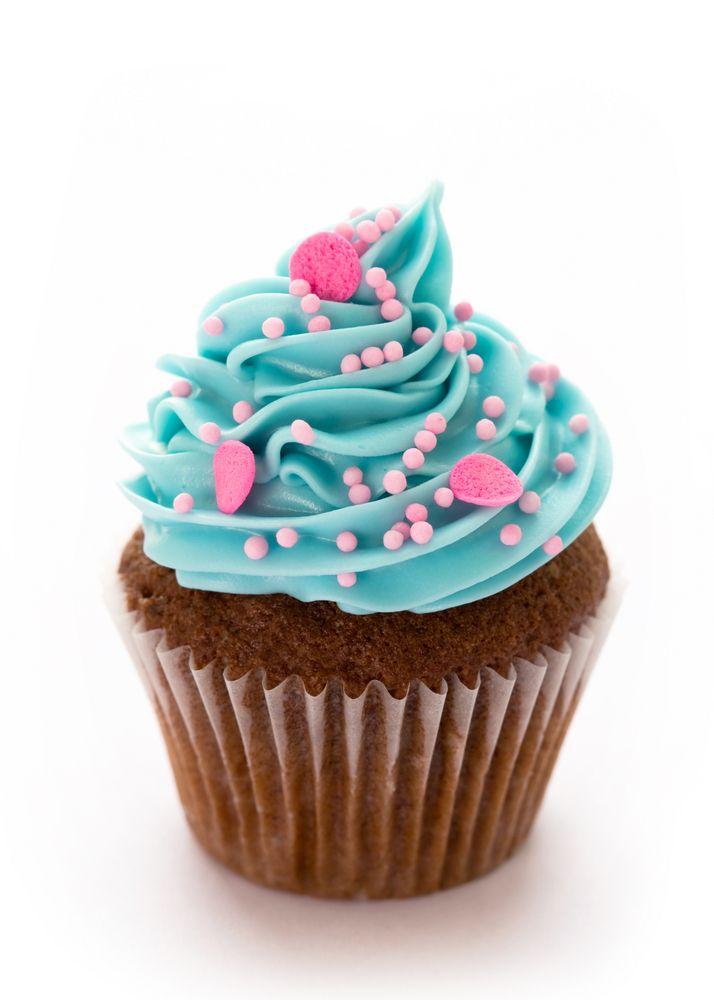 Pink BLUE girly cupcake #cupcakes #cupcaketopper #desserts ...