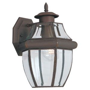 Sea Gull Lighting Curved Beveled Black Large Outdoor Wall Mount 8067 12