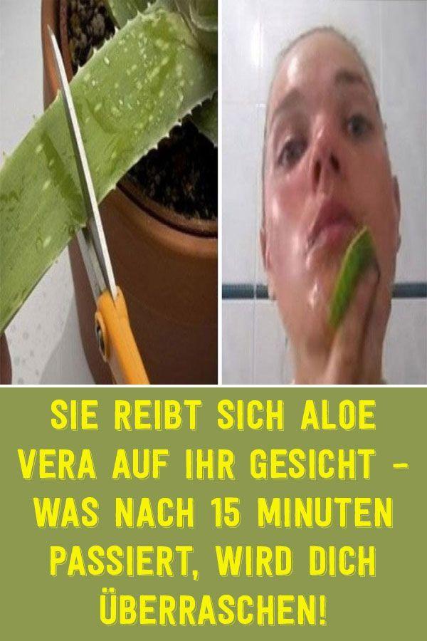 Sie reibt sich Aloe Vera auf ihr Gesicht – Was nach 15 Minuten passiert, wird dich überraschen