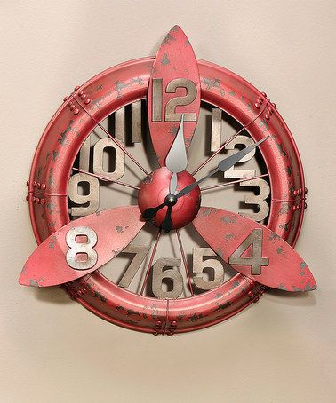 This Vintage Airplane Propeller Wall Clock is perfect! #zulilyfinds
