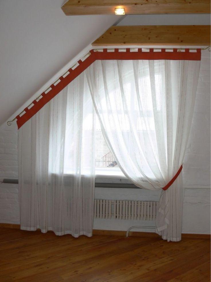 всему как сшить шторы на скошенные окна фото как