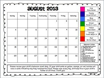 {FREE} 2013-2014 Clip Chart Behavior Charts for Parent Communication