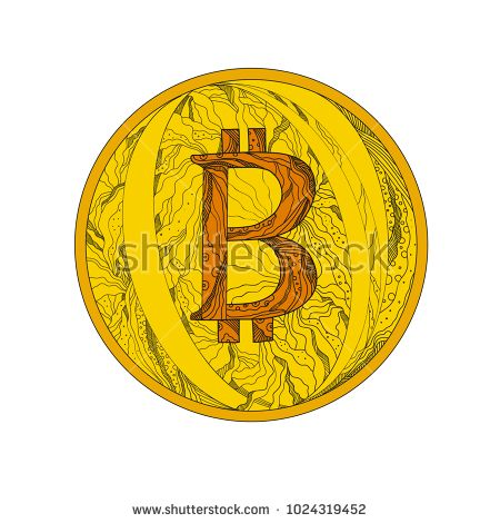 Doodle art illustration of a Bitcoin, a cryptocurrency and worldwide payment system that is the first decentralized digital currency in the world done in mandala style.  #bitcoin #doodleart #illustration