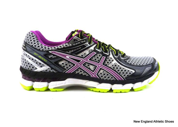 Asics women's GT-2000 2 (D) running shoes sneakers size 6 wide Black Orchid