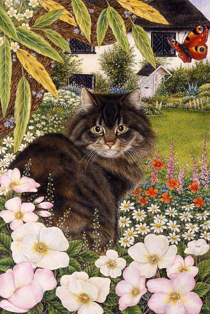 Без кота и жизнь не та... Художница Энн Мортимер (Anne Mortimer). Обсуждение на LiveInternet - Российский Сервис Онлайн-Дневников