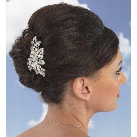 Linzi Jay Dainty Pearl and Crystal Bridal Hair Comb LP682